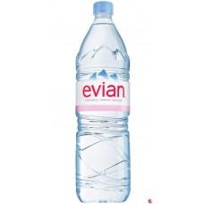 Evian 1, 5 л пластик